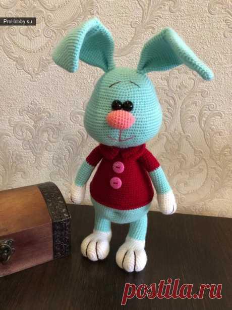Заяц Степка от Марии Ломковой / Вязание игрушек / ProHobby.su | Вязание игрушек спицами и крючком для начинающих, мастер классы, схемы вязания