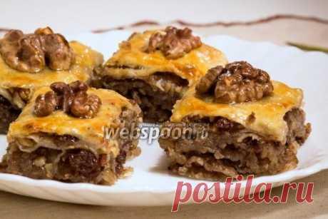Пахлава  Пахлава медовая с орехами  Пахлава является традиционной сладостью во многих восточных странах и поражает разнообразием способов приготовления.