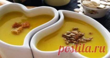 Тыквенный крем-суп с грушами - Рецепты пошагово