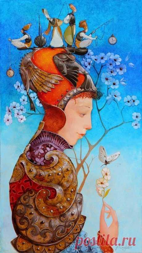 Merab Gagiladze. Fantasy. Surrealist painter