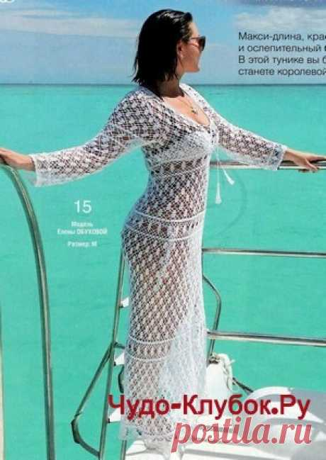 Пляжное платье макси вязаное крючком   ✺❁сайт ЧУДО-клубок ❣ ❂✺Пляжное платье макси вязаное крючком схемы и описание к нему: ❂ ►►➤6 000 ✿моделей вязания ❣❣❣ 70 000 узоров►►Заходите❣❣ %