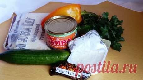 Рулет из лаваша с сайрой - пошаговый рецепт с фото - как приготовить, ингредиенты, состав, время приготовления - Леди Mail.Ru