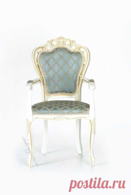 Мягкое кресло на ножках с орнаментом Дебора-3 Д-15