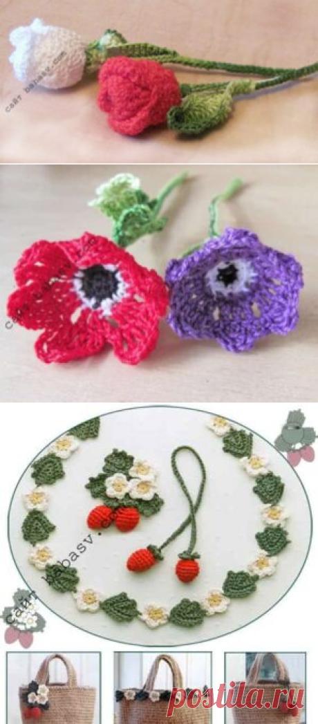 Связать крючком букет цветов| Сундучок-хомячок