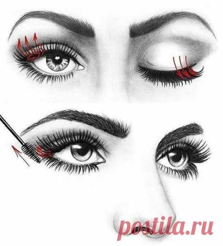 Уроки по макияжу. Как правильно красить ресницы