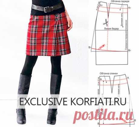 Простая выкройка юбки шотландки от Анастасии Корфиати Очень просто! Молодежная и игривая юбка из ткани шотландка понравится вам простотой моделирования и пошива. Безусловно, здесь солирует ткань - яркая клетка.
