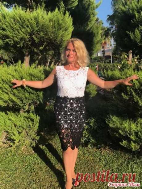 Черно-белое платье для крестницы крючком - Вязание - Страна Мам