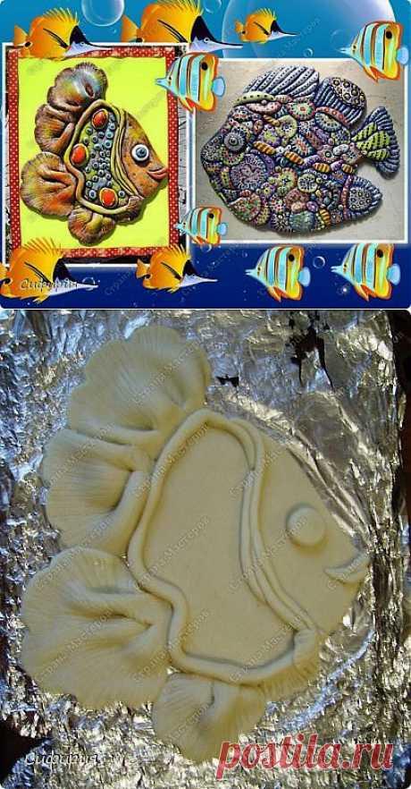 Рыбки-магниты. Лепим из соленого теста