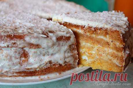Рецепт с фото Тыквенного торта в мультиустройстве