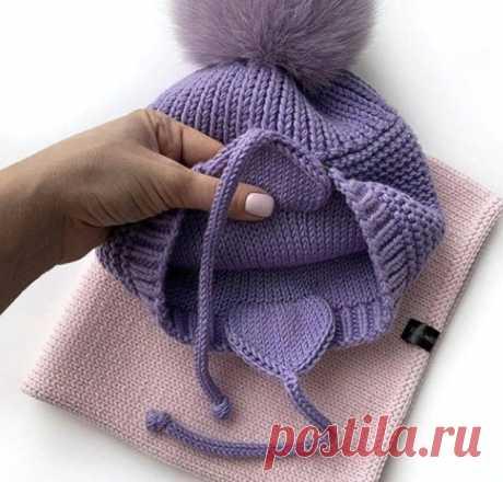 Как я вывязываю ушки на детской шапке (Вязание спицами) – Журнал Вдохновение Рукодельницы