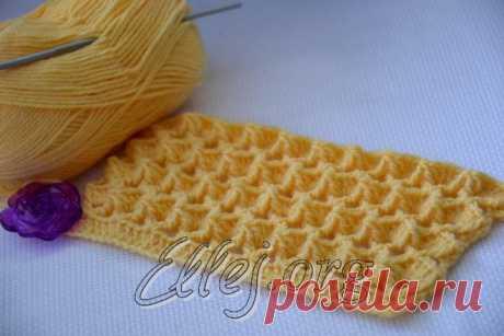 Узор Зефирка   Crochet by Ellej   Вязание крючком от Елены Кожухарь