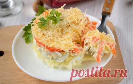 Фото-рецепт салата по-французски с морковью:
