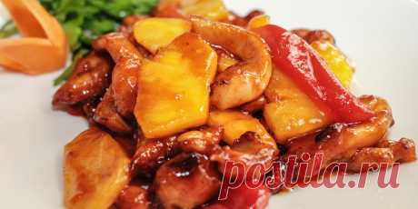 (+3) Курица с ананасами в кисло-сладком соусе : Мясные блюда : Кулинария : Subscribe.Ru