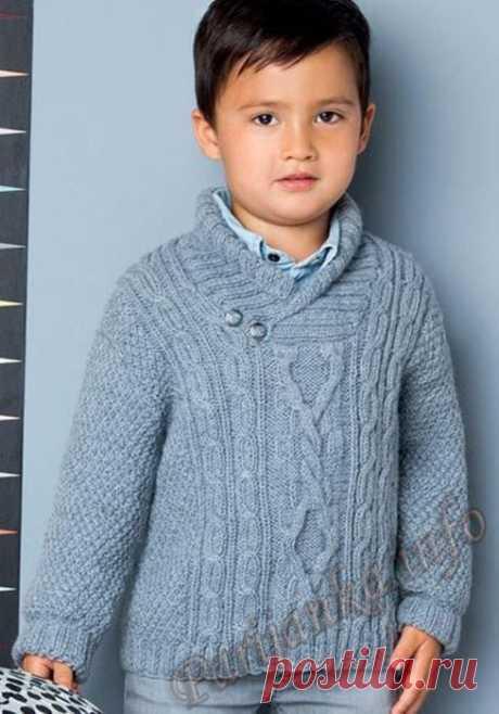 Пуловер. Спицы.