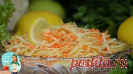 Полезный овощной салат Щётка - то, что нужно после праздников!