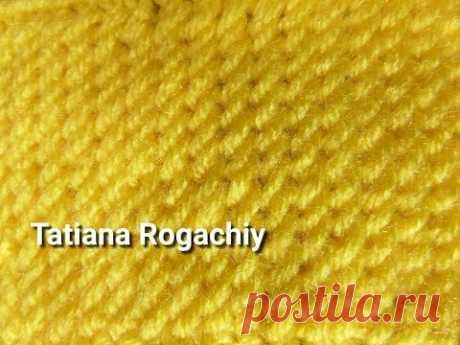 Плотный узор Рисовое поле. Вязание спицами. Обзор пряжи Valencia BAMBINO - YouTube