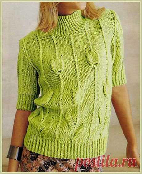 Пуловер с короткими рукавами 547 (Бержер)