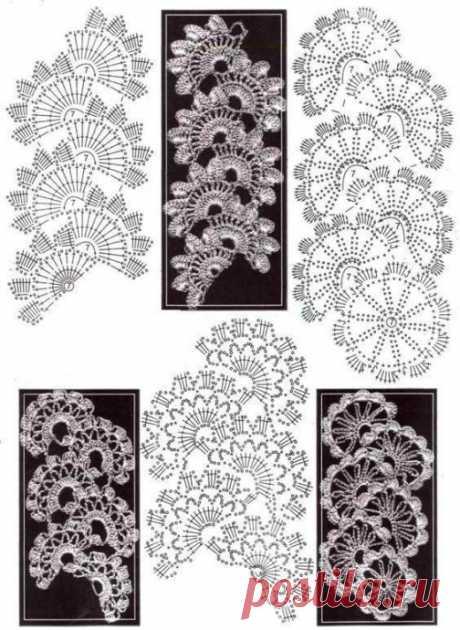 Подборка схем ленточного кружева из категории Интересные идеи – Вязаные идеи, идеи для вязания