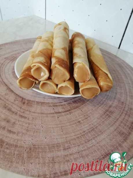 Вафельные трубочки на сковороде Кулинарный рецепт