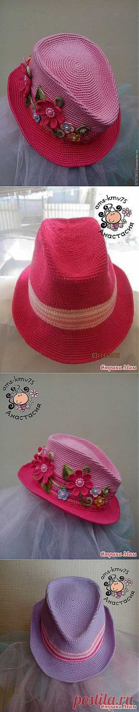 "Шляпа ""а-ля мужская"" описание мужской шляпы"