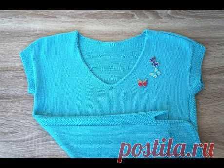 Летний топ-пуловер из хлопка // практично и удобно :)