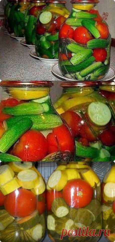 Готовим на зиму Овощное ассорти с водкой без стерилизации! - interesno.win