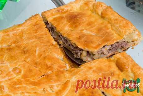 Пирог с мясом вкусно и быстро