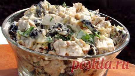 Очень вкусный и сытный салат из говядины с черносливом