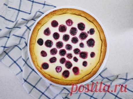 Песочный пирог с творогом и ягодой. Вкусная и простая выпечка. - Блог Алёны Аникиной!