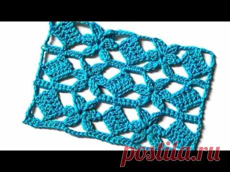 Openwork pattern Flowers and squares
