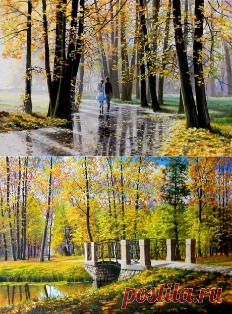 Осенне-зимний пейзаж Юрия Зосича, Беларусь