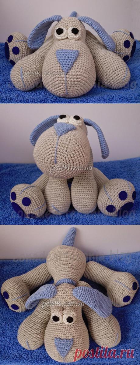 Забавная собачка крючком. Описание вязания