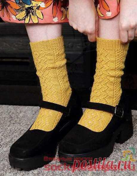 Ажурные носки «Zing in Your Step» | ВЯЗАНЫЕ НОСКИ