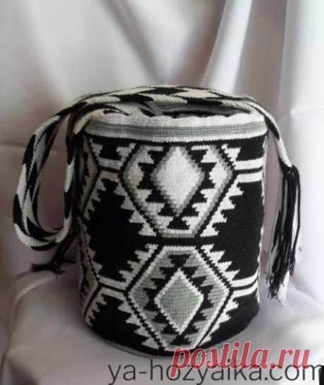 Вязаная сумка шоппер крючком из трикотажной пряжи. Как связать сумку шоппер крючком