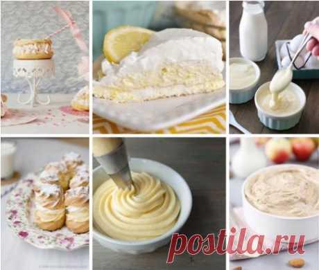 4 лучших рецепта крема: Крем Патисьер, Крем Англез, Миндальный крем, Крем Пари-Брест или крем муслин с пралине. 💕1. Крем Патисьер (Crème Pâtissèrie, Pastry cream). Очень нежный, вкусный крем. С добавлением разных ингредиентов превращается в другие виды крема. Ингредиенты: 250 мл молока стручок ванили (у меня ванильный сахар с семенами ванили) 60 г сахара 3 желтка 25 г кукурузного крахмала 25 г сливочного масла Приготовление: Молоко и семена ванили довести до кипения. С