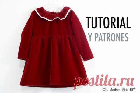 Выкройка Детское платье на девочку Размеры на возраст 1-8 лет  #patterns@thestylishpatterns #sewinginstruction@thestylishpatterns