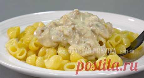 Простой рецепт сырного соуса с грибами: сын любит его с макаронами, но вкусно с любым гарниром   Кухня наизнанку   Яндекс Дзен