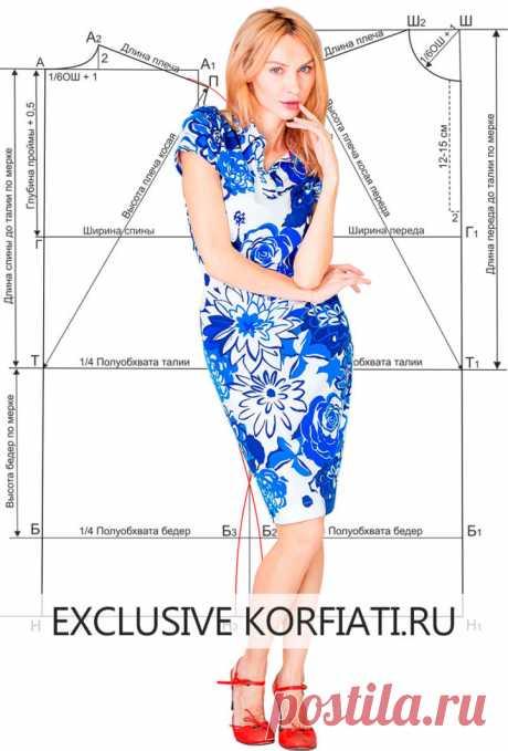 Выкройка платья с застежкой поло от А. Корфиати