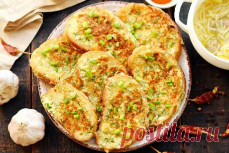 Сырные гренки из батона – рецепт с фото