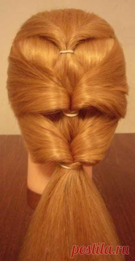 Оригинальная причёска за 5 минут