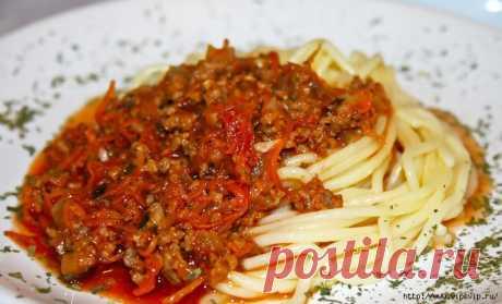 Соус болоньезе к спагетти. Вкуснятина!