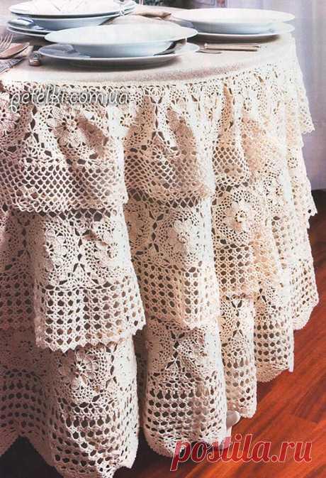We knit a hook. Smart cloth tiers. Description, schemes