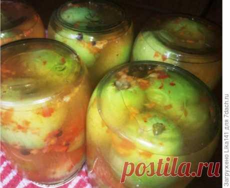 Очень вкусные зеленые помидоры в волшебной заливке