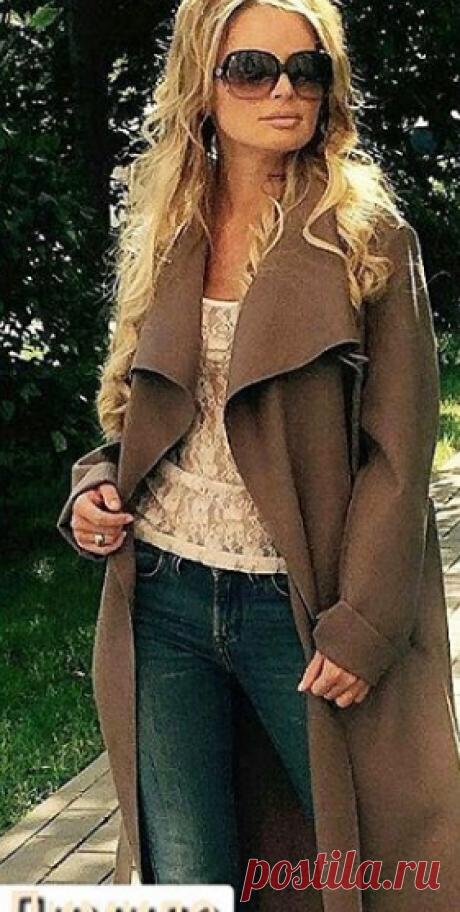 Пальто из шлифованного кашемира