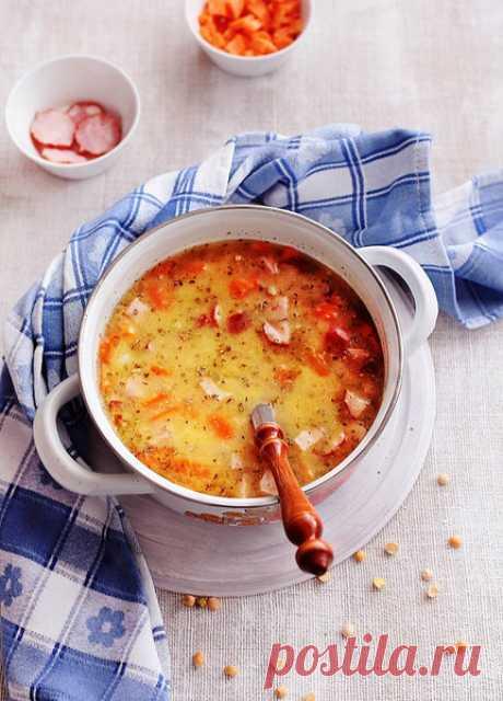 Гороховый суп с копчеными ребрышками🍲