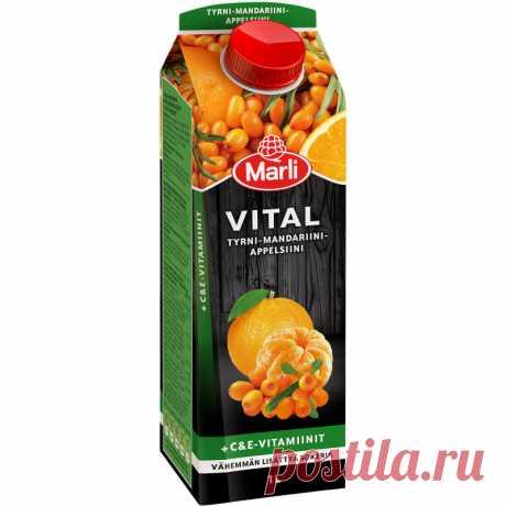 Облепиха-мандарин-оранжевый + C и E -витамины 1 л желательно Tokmannilta