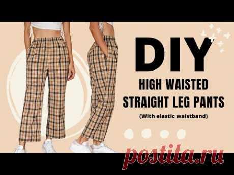 DIY High waisted straight leg pants