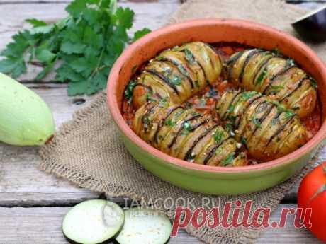 Картошка-гармошка «Рататуй». Всем известно французское овощное блюдо рататуй. Приготовим по мотивам этого блюда картошку-гармошку, получится очень вкусно!