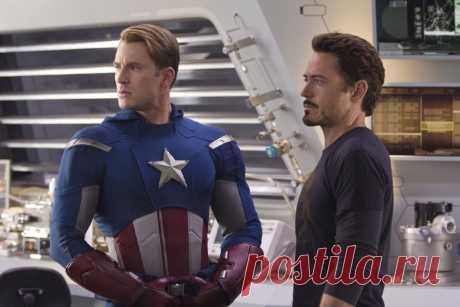 Железный человек и Капитан Америка