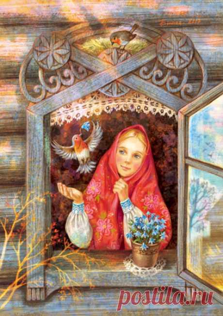 Иллюстрация Зарянка.  Таня Сытая / Tanya Sitaya